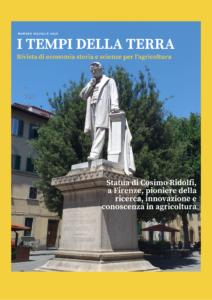 Copertina: Statua di Cosimo Ridolfi, a Firenze, pioniere della ricerca, innovazione e conoscenza in agricoltura